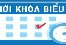 Thời khóa biểu học kỳ I, Năm học 2019-2020 Các lớp năm thứ nhất