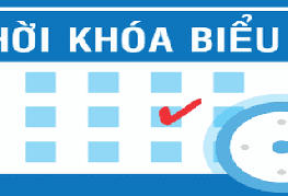 Thời khóa biểu học kỳ I, Năm học 2019-2020 Lớp Răng Hàm Mặt