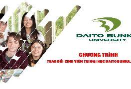 Thông báo chương trình trao đổi sinh viên tại Đại học Daito Bunka, Nhật Bản học kì I năm học 2021 - 2022