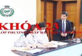 Tuyển sinh lớp phương pháp dạy học lâm sàng cho người dạy thực hành trong đào tạo khối ngành sức khỏe khóa 23