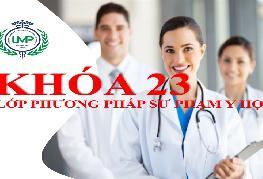 Thông báo tuyển sinh lớp phương pháp sư phạm y học khóa 23