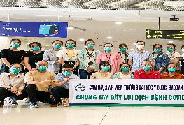 Tình nguyện viên Trường ĐH Y Dược lên đường hỗ trợ tỉnh Đồng Tháp chống dịch