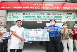 Sinh viên, giảng viên Trường ĐH Y Dược tiếp sức cho TP Hà Nội chống dịch COVID-19